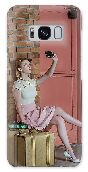 Camera Galaxy Case - An Old Self Portrait by Kirsten Woodforth