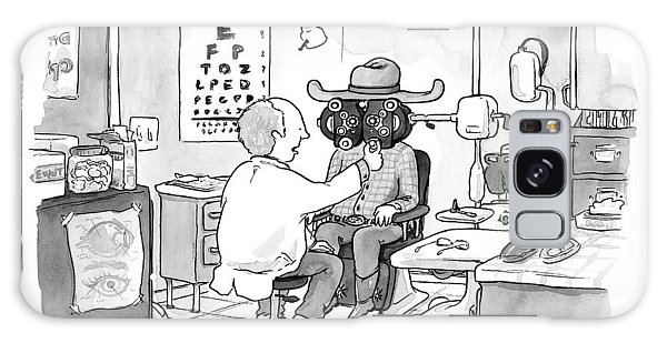 An Optometrist Examines A Cowboy Galaxy Case