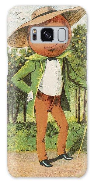 Vintage Galaxy Case - An Orange Man by Aged Pixel