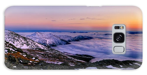 An Undercast Sunset Panorama Galaxy Case