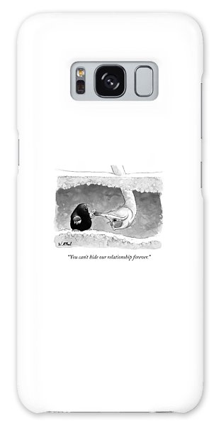 Ostrich Galaxy Case - An Underground Mole Says To A Ostrich Poking by Will McPhail