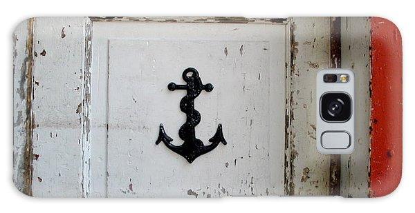 Anchor On Old Door Galaxy Case by Kathy Barney