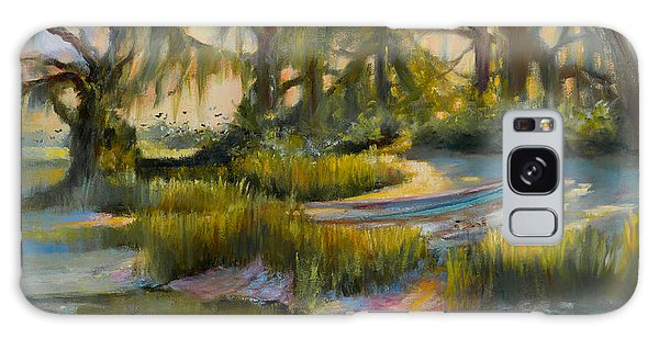 Galaxy Case - Anchored In The Marsh by Jane Woodward