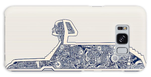 Metal Galaxy Case - Ancient Egypt Sphinx And Science by Ryger