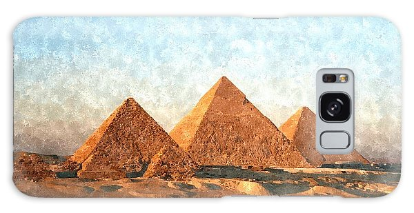 Ancient Egypt The Pyramids At Giza Galaxy Case by Gianfranco Weiss