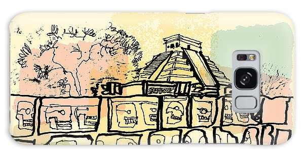 World Religion Galaxy Case - Ancient Mayan Temples In Chichen Itza by Babayuka