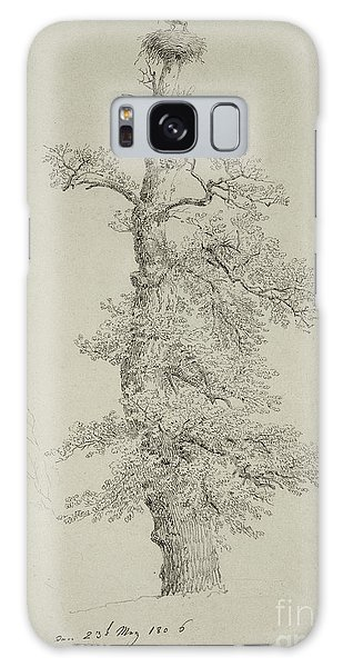 Stork Galaxy S8 Case - Ancient Oak Tree With A Storks Nest by Caspar David Friedrich