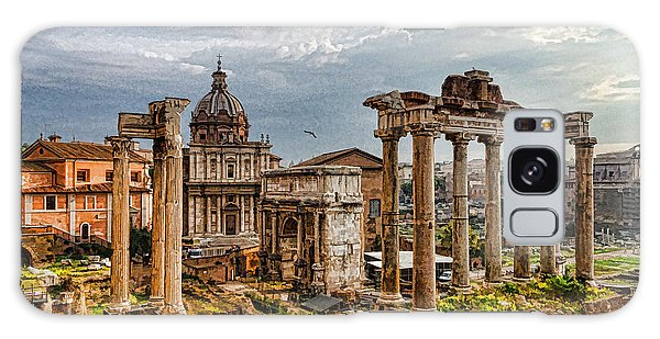 Ancient Roman Forum Ruins - Impressions Of Rome Galaxy Case