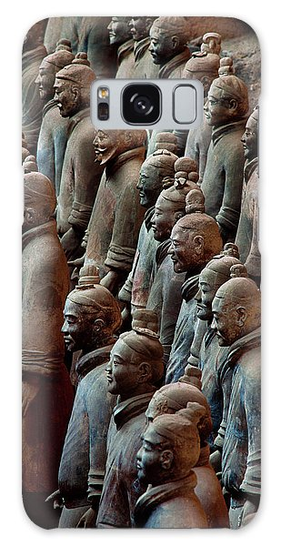 People's Republic Of China Galaxy Case - Ancient Soldier Statues Stand At Front by O. Louis Mazzatenta