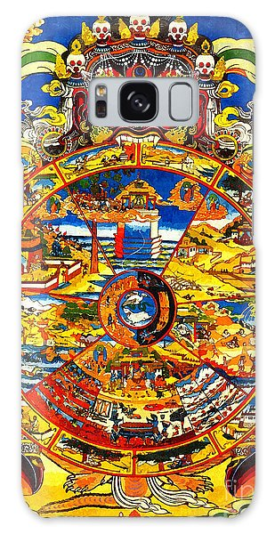 Ancient Tibetan Tangka Wheel Of Life Galaxy Case