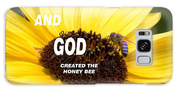 And God Created The Honey Bee Galaxy Case by Belinda Lee