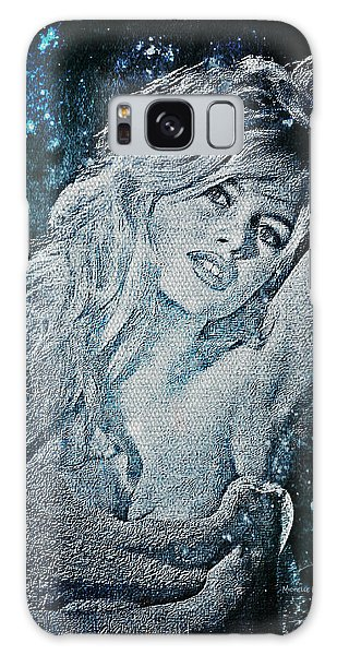 And God Created Woman Galaxy Case by Absinthe Art By Michelle LeAnn Scott
