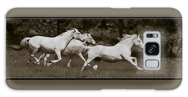 And The Race Is On Galaxy Case by Wes and Dotty Weber
