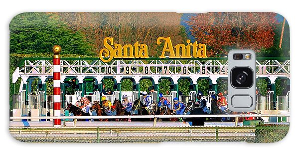 And They're Off At Santa Anita Galaxy Case