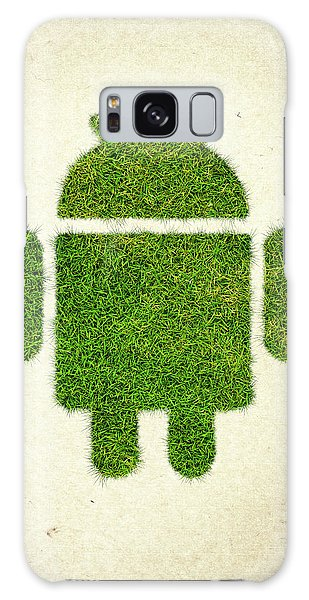 Recycle Galaxy Case - Andoird Grass Logo by Aged Pixel