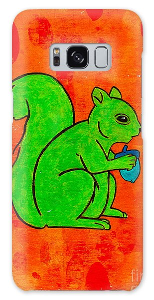 Andy's Squirrel Green Galaxy Case by Stefanie Forck