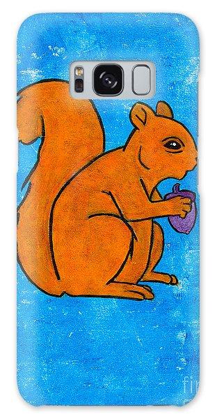 Andy's Squirrel Orange Galaxy Case by Stefanie Forck