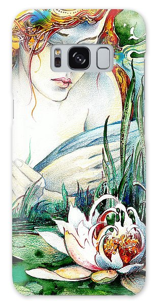 Angel And Lily Galaxy Case by Anna Ewa Miarczynska