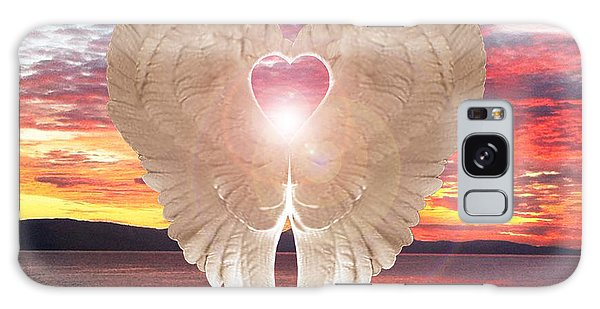 Angel Heart At Sunset Galaxy Case