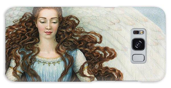 Angel In A Blue Dress Galaxy Case