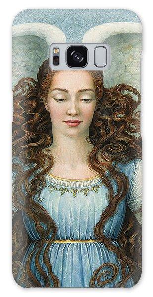 Angel Galaxy Case - Angel In A Blue Dress by Lynn Bywaters