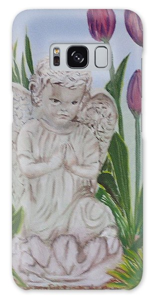 Angel In The Garden Galaxy Case by Sharon Schultz