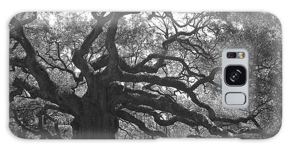 Angel Oak II - Black And White Galaxy Case by Suzanne Gaff