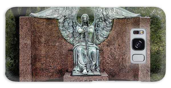 Cemetery Galaxy Case - Angel Of Death Lake View Cemetery by Tom Mc Nemar