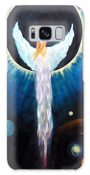 Angel Of The Eclipse Galaxy Case by Marina Petro