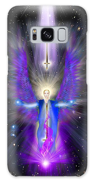 Angel Of The Violet Flame Galaxy Case