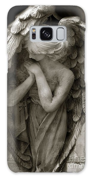 Angel Photography - Dreamy Spiritual Angel Art - Guardian Angel Art In Prayer  Galaxy Case