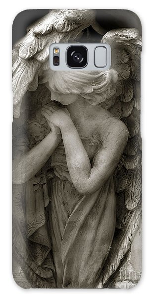 Angel Galaxy Case - Angel Photography Spiritual Angel  - Guardian Angel In Prayer - Angel Praying  by Kathy Fornal