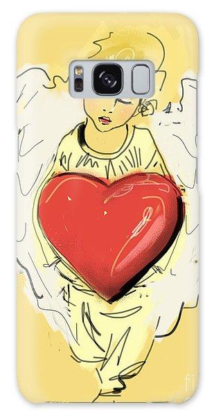 Angel Red Heart Galaxy Case