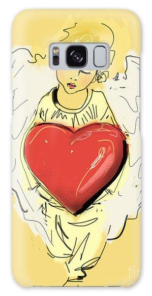 Angel Red Heart Galaxy Case by Go Van Kampen