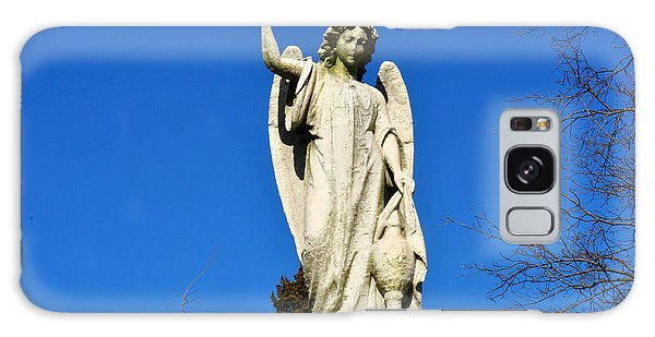 Angel With Blue Sky Galaxy Case by Diane Lent