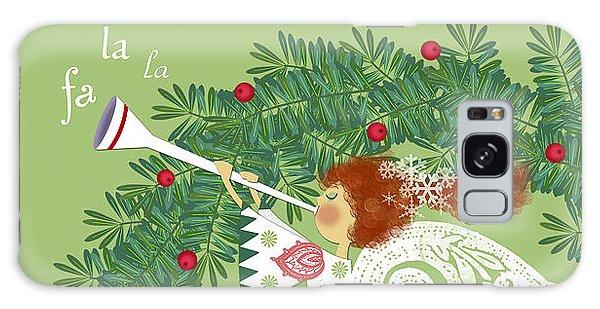 Angel With Christmas Wreath Galaxy Case