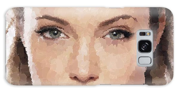 Angelina Jolie Portrait Galaxy Case
