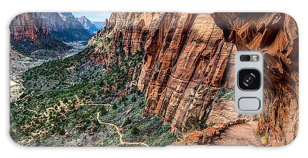Angels Landing Trail From High Above Zion Canyon Floor Galaxy Case