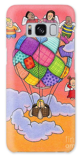 Angels With Hot Air Balloon Galaxy Case