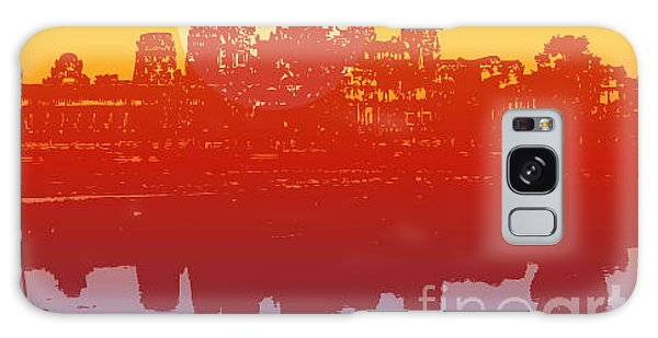 Glow Galaxy Case - Angkor Wat In Sunset Vector - by Fat fa tin