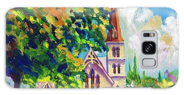 Anglican White Church In Summer Galaxy Case