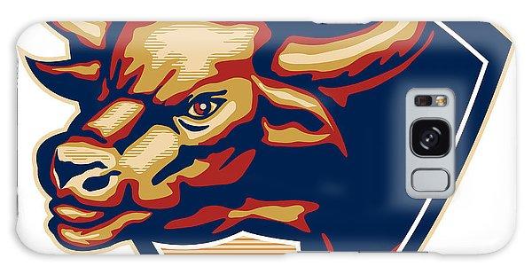 Angry Bull Head Crest Retro Galaxy Case by Aloysius Patrimonio