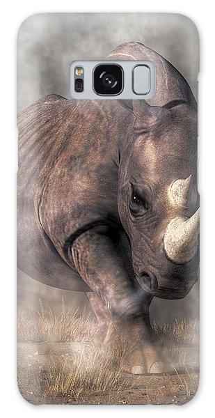 Angry Rhino Galaxy Case by Daniel Eskridge