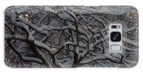 Angular Tree With Snow Galaxy Case