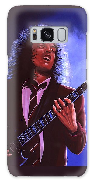 Rock And Roll Galaxy S8 Case - Angus Young Of Ac / Dc by Paul Meijering