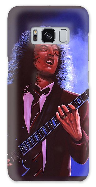 Rock And Roll Galaxy Case - Angus Young Of Ac / Dc by Paul Meijering