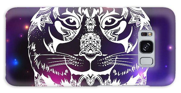 Indian Head Galaxy Case - Animal Head Print For Adult Anti Stress by Anastasia Mazeina