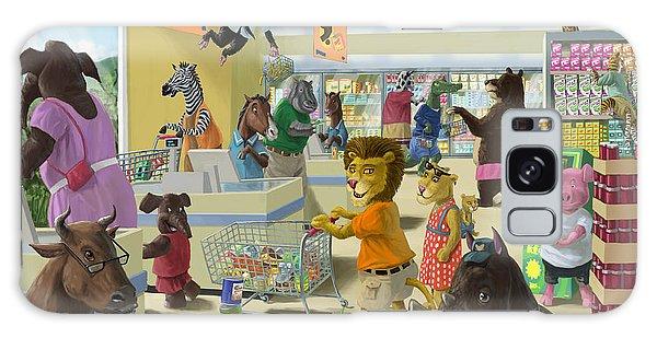 Animal Supermarket Galaxy Case by Martin Davey