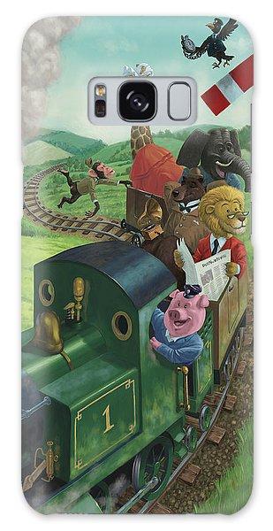 Animal Train Journey Galaxy Case by Martin Davey