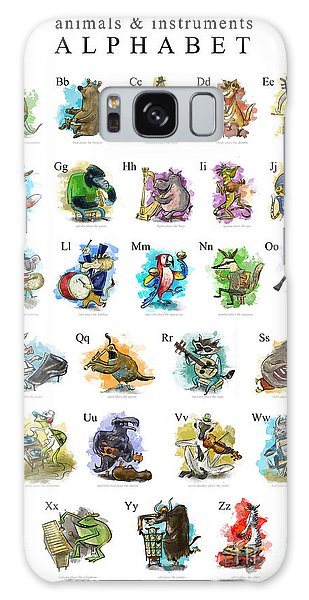 Otter Galaxy S8 Case - Animals And Instruments Alphabet by Sean Hagan